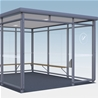 Favorit Smoking shelter, 3x3-sections